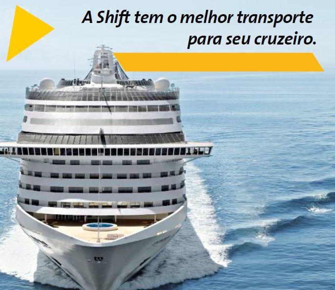 Embarque com a Shift para o seu cruzeiro